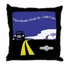 Open Roads, Fresh Air, Little Cars Throw Pillow