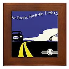 Open Roads, Fresh Air, Little Cars Framed Tile