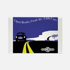Open Roads, Fresh Air, Little Cars Rectangle Magne