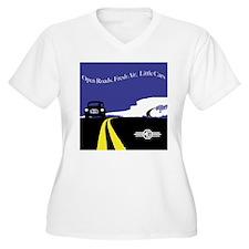 Open Roads, Fresh Air, Little Cars Plus Size T-Shi