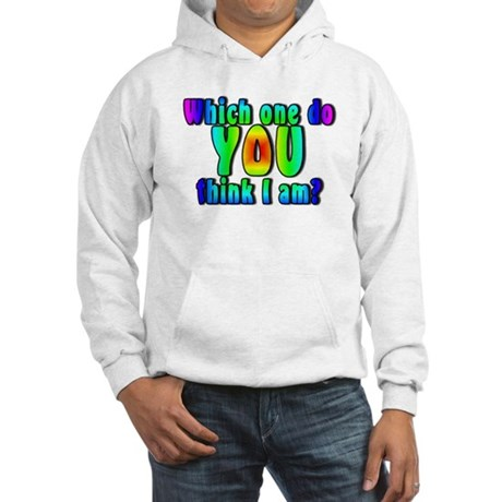 Which one do you think I am? Hooded Sweatshirt