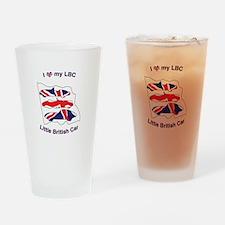 I Heart my LBC (Little British Car) Drinking Glass