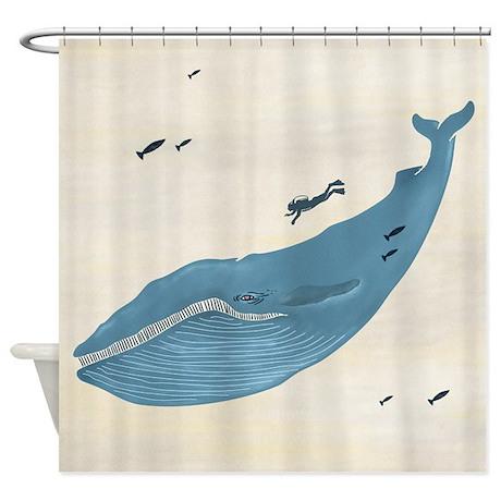 Blue Whale - Shower Curtain