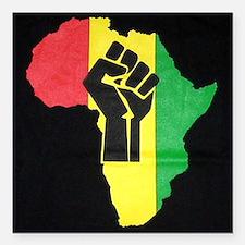 "Pan Africa Square Car Magnet 3"" x 3"""