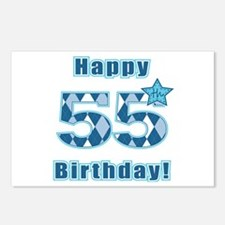 Happy 55h Birthday! Postcards (Package of 8)
