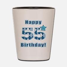 Happy 55h Birthday! Shot Glass