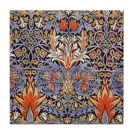 Morris Snakeshead Design Tile Coaster
