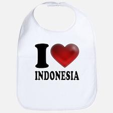 I Heart Indonesia Bib