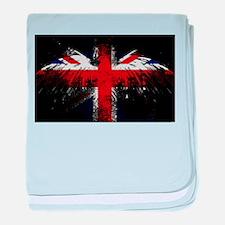 Union Jack Eagle baby blanket