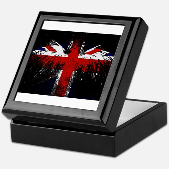 Union Jack Eagle Keepsake Box