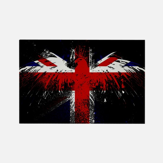 Union Jack Eagle Rectangle Magnet