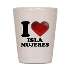 I Heart Isla Mujeres Shot Glass