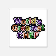 World's Greatest CHEF Square Sticker