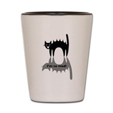 "Angry Cat ""I'm so mad!"" Shot Glass"