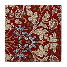 Hyacinth Design by William Morris Tile Coaster