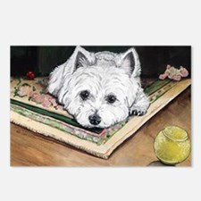 Please Play Westie Postcards (Package of 8)