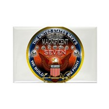 Navy Seabees Magnificent 7 Rectangle Magnet