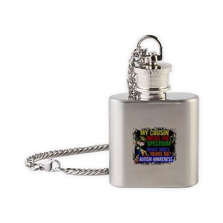 Rocks Spectrum Autism Flask Necklace