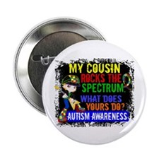 "Rocks Spectrum Autism 2.25"" Button"