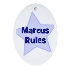 Marcus Rules Oval Ornament