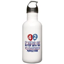 42 year old birthday designs Water Bottle