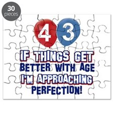 43 year old birthday designs Puzzle