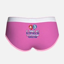 43 year old birthday designs Women's Boy Brief
