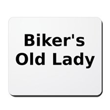Bikers Old Lady Mousepad