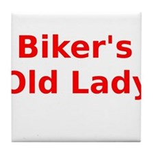 Bikers Old Lady Tile Coaster