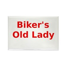 Bikers Old Lady Rectangle Magnet