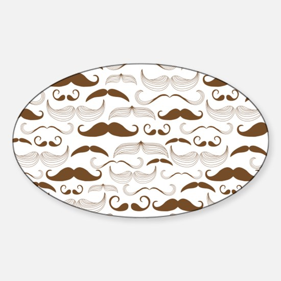Mustache Pattern Brown Decal