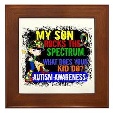 Rocks Spectrum Autism Framed Tile