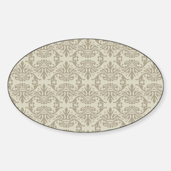 Damask Toupe Pattern Decal