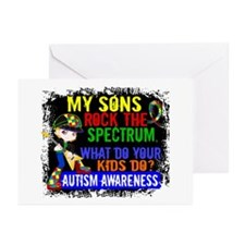 Rock Spectrum Autism Greeting Cards (Pk of 10)