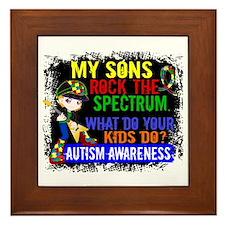 Rock Spectrum Autism Framed Tile