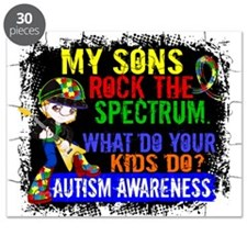 Rock Spectrum Autism Puzzle