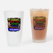 Rock Spectrum Autism Drinking Glass