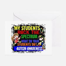 Rock Spectrum Autism Greeting Card