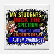 Rock Spectrum Autism Tile Coaster