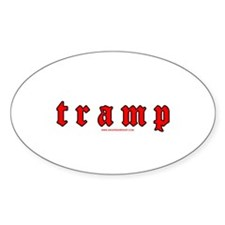Tramp Oval Decal