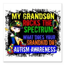 "Rocks Spectrum Autism Square Car Magnet 3"" x 3"""