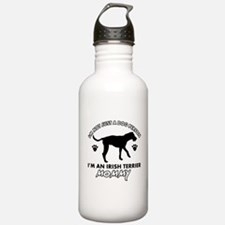 Irish Terrier dog breed design Water Bottle