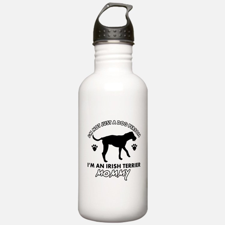 Irish Terrier dog breed design Water Bottle
