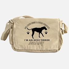 Irish Terrier dog breed design Messenger Bag