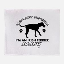 Irish Terrier dog breed design Throw Blanket