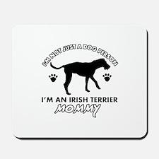 Irish Terrier dog breed design Mousepad
