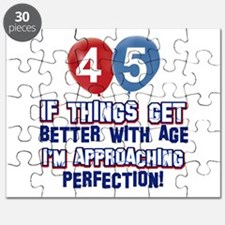 45 year old birthday designs Puzzle