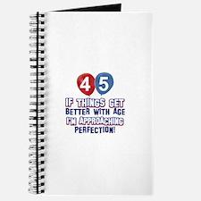 45 year old birthday designs Journal