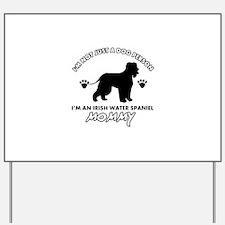 Irish Water Spaniel dog breed design Yard Sign