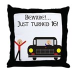 CAUTION 16 YEARS OLD Throw Pillow